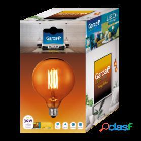 Garza lighting, bombilla led vintage gold globo. filamento largo, g125, 4 w, 280 lúmenes, e27, 360º, luz cálida