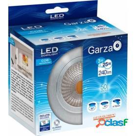 Garza lighting, downlight cob 3w aluminio luz cálida 240 lúmenes