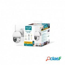 Garza smarthome, cámara exterior de seguridad wi-fi inteligente, 360º, hd 1080 p, visión nocturna y zoom, control voz y app