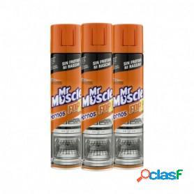 Pack de 3 unidades mr muscle de sc johnson, limpiahornos forza, gel de limpieza para hornos, 300 ml