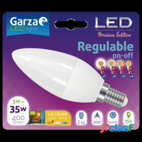 Garza lighting, bombilla led standard regulable on/off 5w e27 luz cálida 400 lúmenes