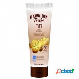Hawaiian tropic bb cream spf 30, crema solar protectora para cara y cuerpo, tinte moreno unificador del color, 150 ml