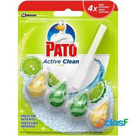Pato active clean de sc johnson, colgador para inodoro, frescor intenso aroma lima, 70 grs