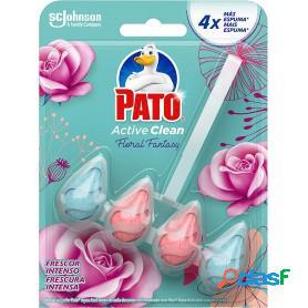 Pato active clean de sc johnson, colgador para inodoro, frescor intenso aroma floral fantasy, 70 grs