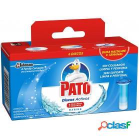 Pato wc de sc johnson, discos activos recambio limpiador automático para inodoro aroma marine, 150 grs