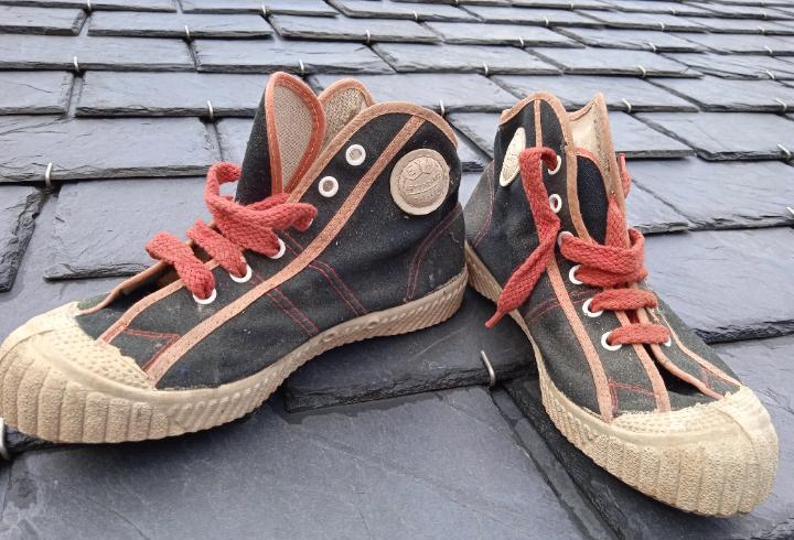 Botas eya baloncesto años 70 nº 37 vintage zapatillas