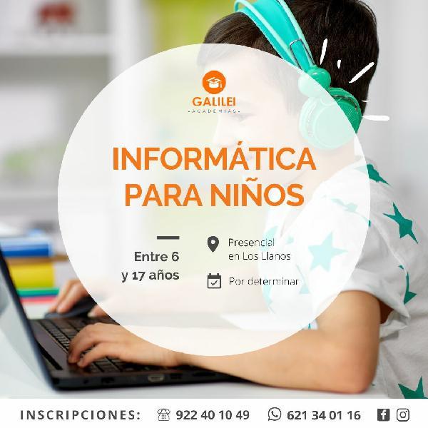 Curso de informática para niños