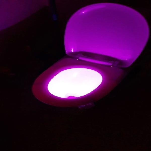 Luz led auto para inodoro sin usar sin abrir !