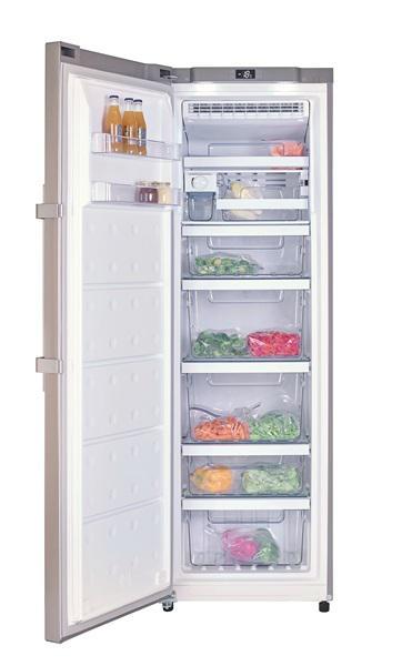 Congelador de 1 puerta inox antihuella tgf 390 nf de teka