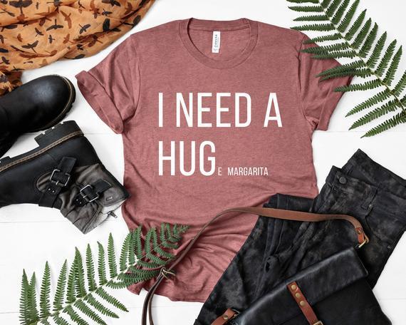 Necesito una enorme camiseta margarita, camiseta de abrazo,