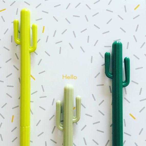 Pluma de gel de cactus, pluma de cactus suculenta, pluma de