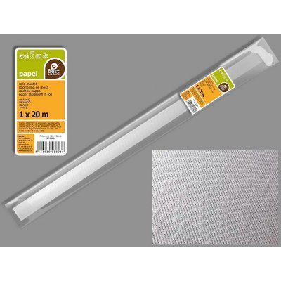 Rollo mantel de 1x20 metros color blanco 380300 best product