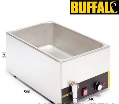 Baño maría eléctrico con grifo buffalo