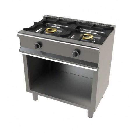 Cocina gas 2 fuegos con mueble 800x550x850mm