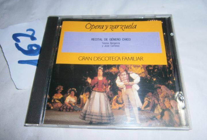 Cd - musica variada - recital de genero chico - tereza