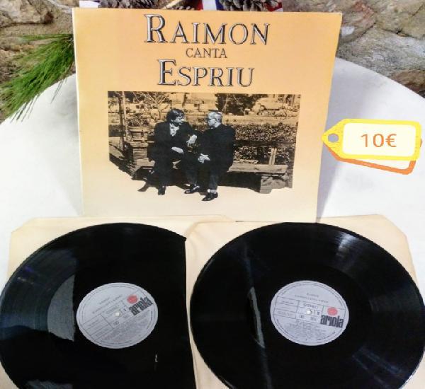 Doble lp. raimon canta espriu any de gravació 1981 editat