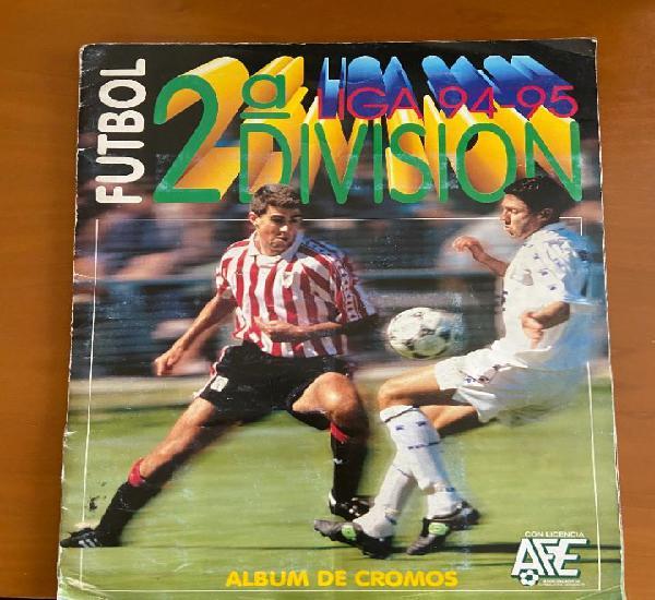 Futbol 2ª division 94 95 este completo a falta de un cromo