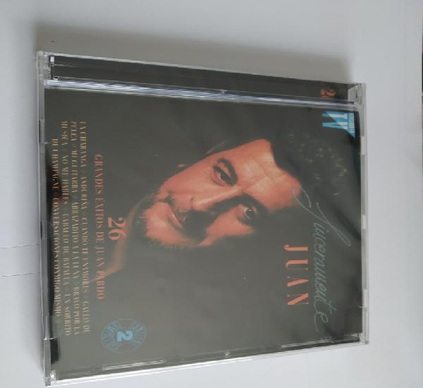 Juan pardo sinceramente juan contiene 2 cds sin usar