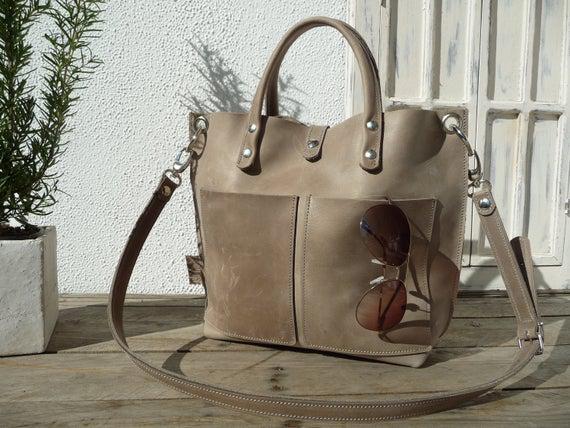 Bolso de cuero, pequeño comprador de cuero, bolso, bolso de