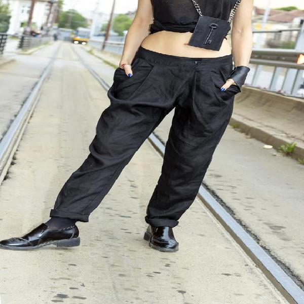 Nueva colección lino pantalones de mujer / pantalones