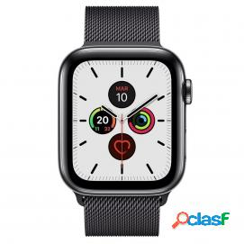 Apple watch series 5 gps 40mm + cellular acero inoxidable negro espacial con correa metálica negra