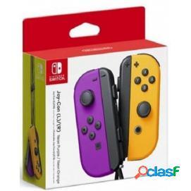 Nintendo switch joy-con set izquierda/derecha morado/naranja neón