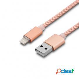 Unotec cable 8 pin metálico dorado rosa
