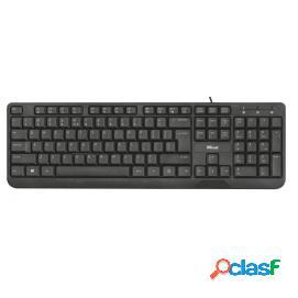Trust ziva teclado multimedia usb negro