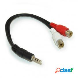 Startech cable adaptador audio mini jack 3,5 mm a rca 15cm