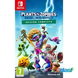 Plants vs zombies: battle for neighorville edición completa nintendo switch