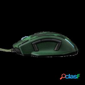 Trust gaming caldor ratón gtx 155c verde camuflaje