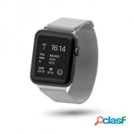 Unotec correa malla metal gris para apple watch 42mm