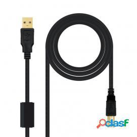 Nanocable cable usb 2.0 impresora alta calidad tipo a/b macho/macho 3m