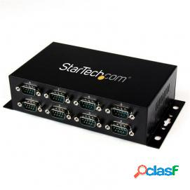 Startech adaptador hub usb a 8 puertos serie rs232 industrial