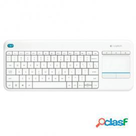 Logitech k400+ wireless touch keyboard blanco