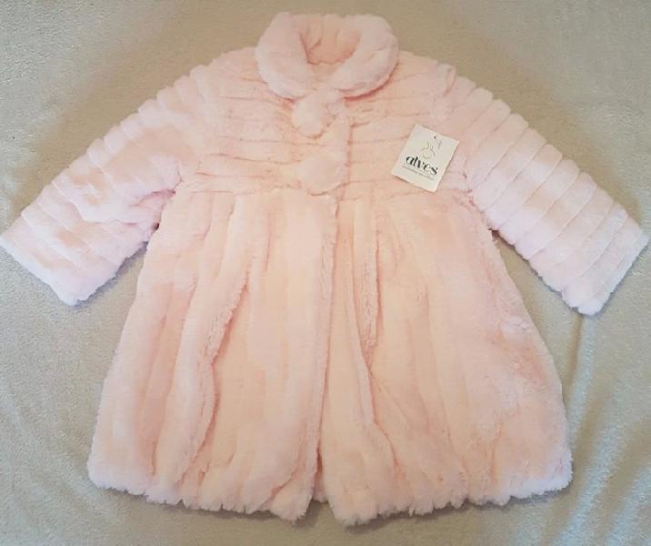 Abrigo bebe niña pelo rosa