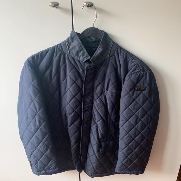 Abrigo ligero hackett tipo husky, color azul marino, talla