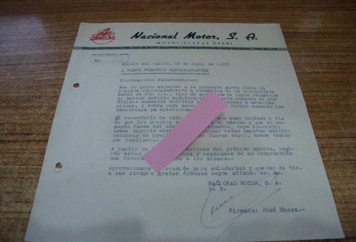 Carta informativa a los representantes original tarifas