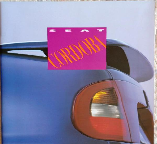 Catálogo seat cordoba. 1993. en español *