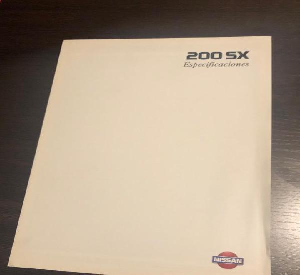 Folleto especificaciones nissan 200 sx