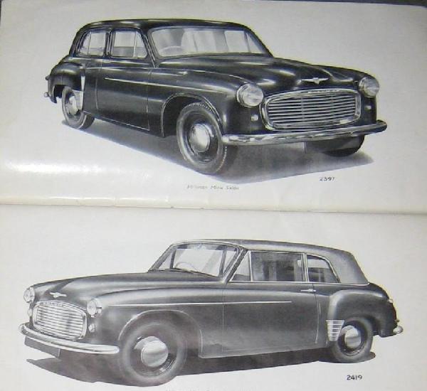 Manual del propietario de automóviles hillman mark vi.1953.