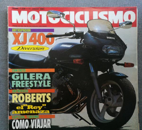 Motociclismo 1220 1991 yamaha xj400 diversion, gilera