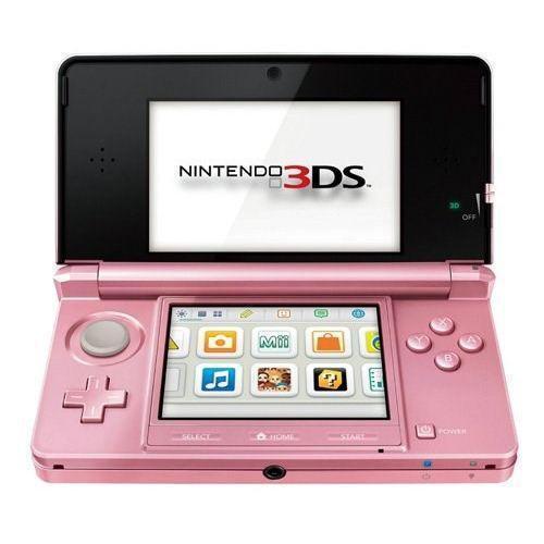 Consola nintendo 3ds coral pink + nintendogs + paquete de