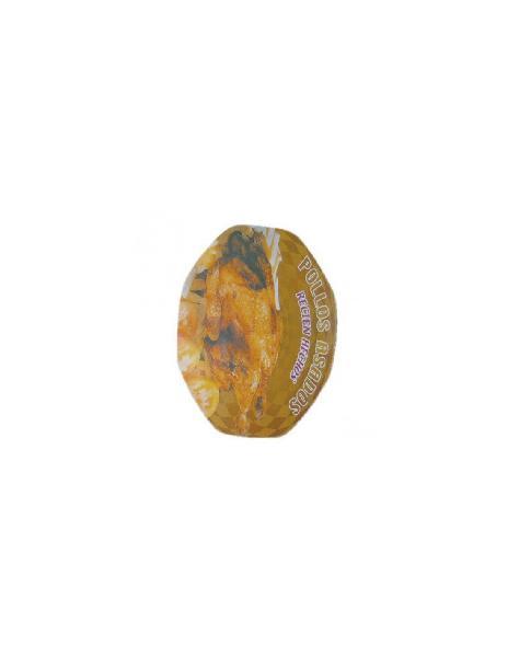Pack 100 uds tapa carton plastificado para recipiente pollo