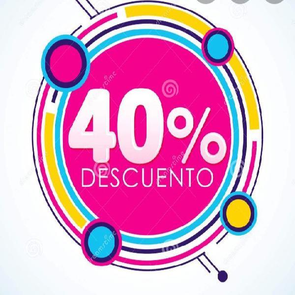 Descuento del 40%
