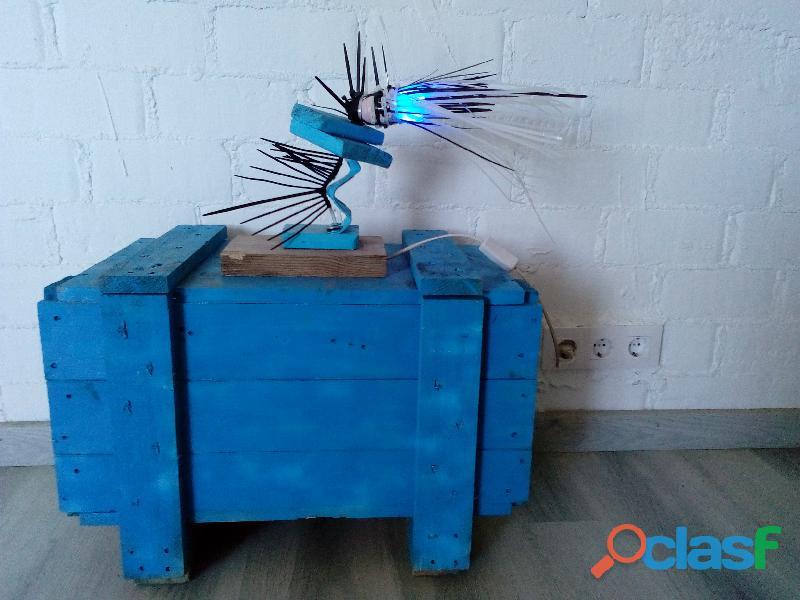 Caja para almacenaje de madera con tapa