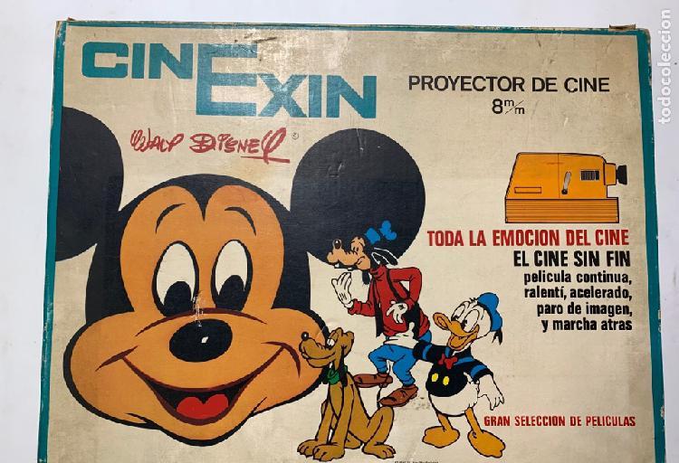 Clásico cinexin exin naranja años 70 completo en su caja y