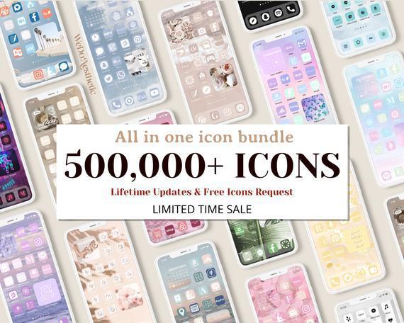 500,000+ ios14 app icons, ios 14 aesthetic, neutral app