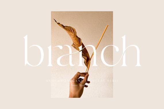 Branch - svg font, cricut font, silhouette font, wedding