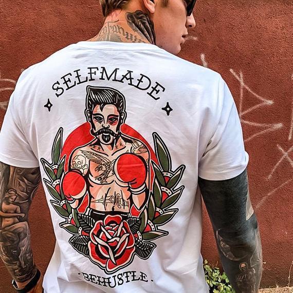 Selfmade tee - camiseta de tatuaje behustle ropa, tatuajes,